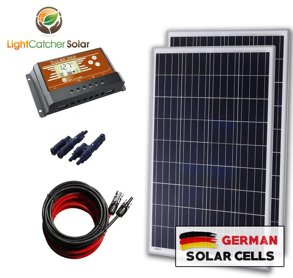 200 Watt 12 Volt Battery Charging Solar Panel Kit 12v 200w Rv Boat Off Grid New Solar Panel Kits Solar Kit Solar