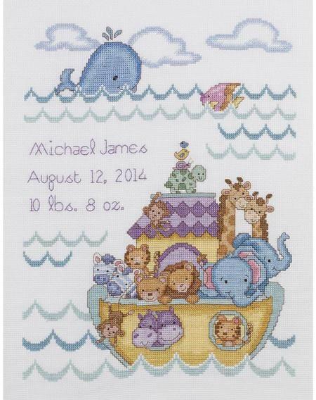 Design Works Baby Buggy Boy Birth Record Cross Stitch Kit T21746 Baby Cross Stitch Patterns Cross Stitch Kits Cross Stitch Baby