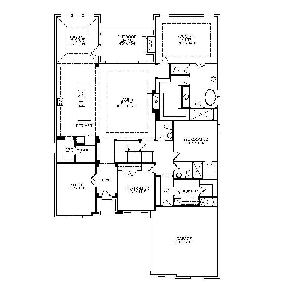 Main Level plan view for Lorenzo III | House plans | Pinterest ...