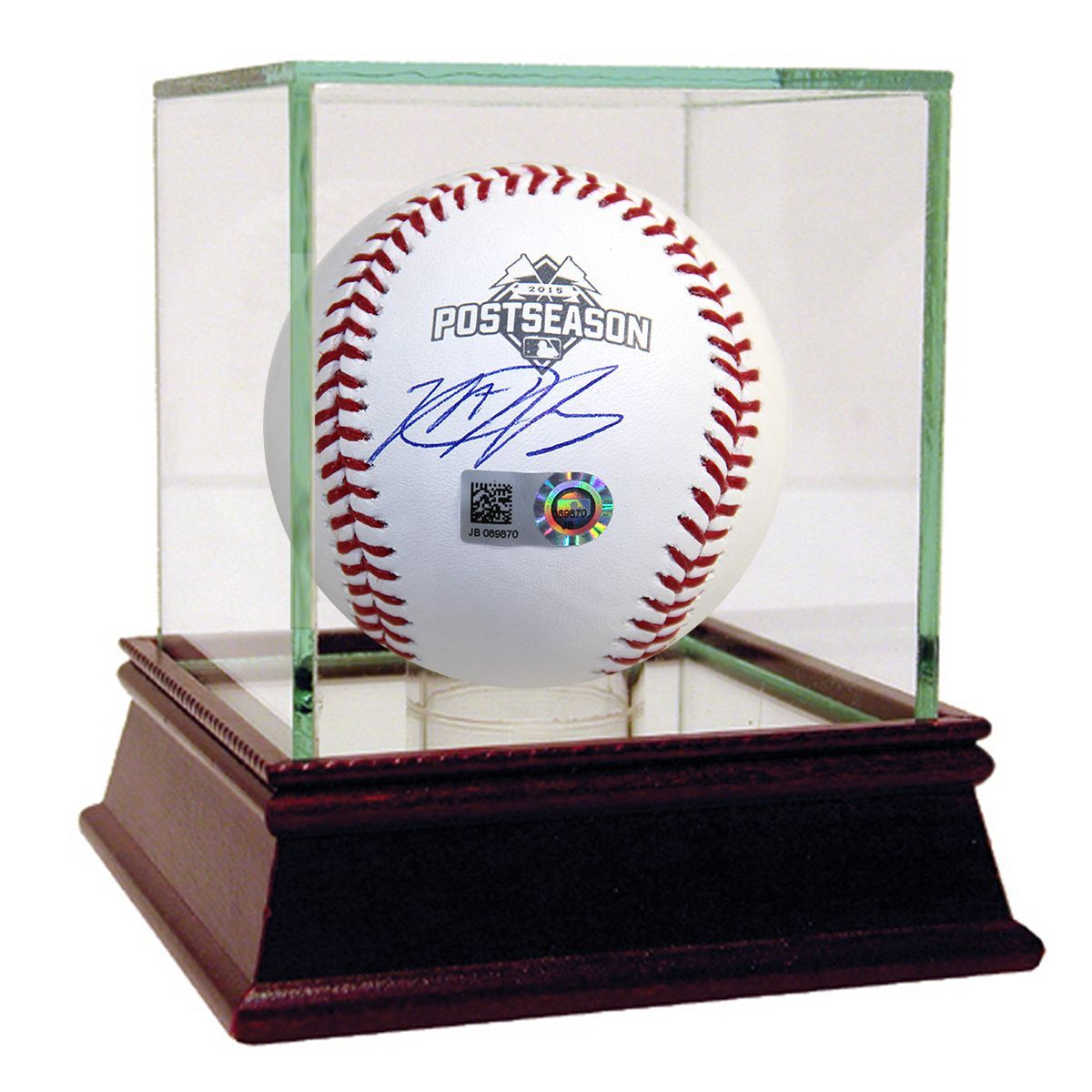 Steiner Matt Harvey Signed 2015 Postseason Logo MLB Baseball