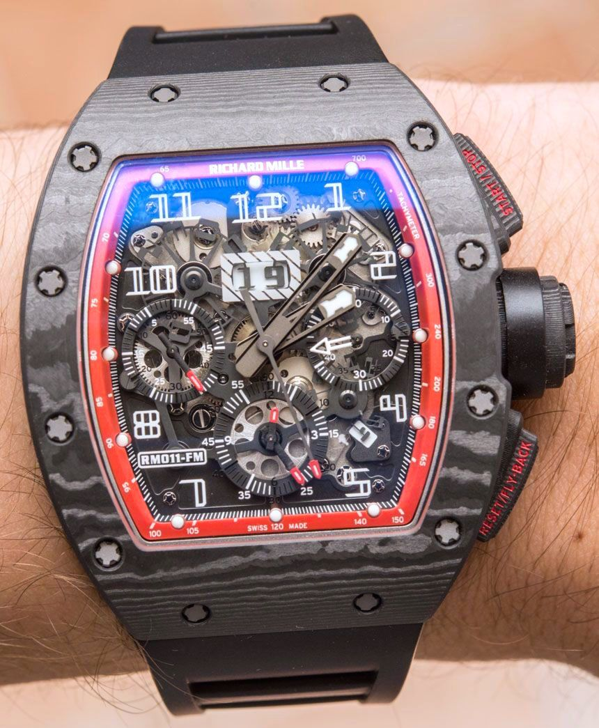 c5404edbe11 Richard Mille RM 011 Felipe Massa Black Night NTPT Carbon Watch Review - by  David Bredan - on aBlogtoWatch.com
