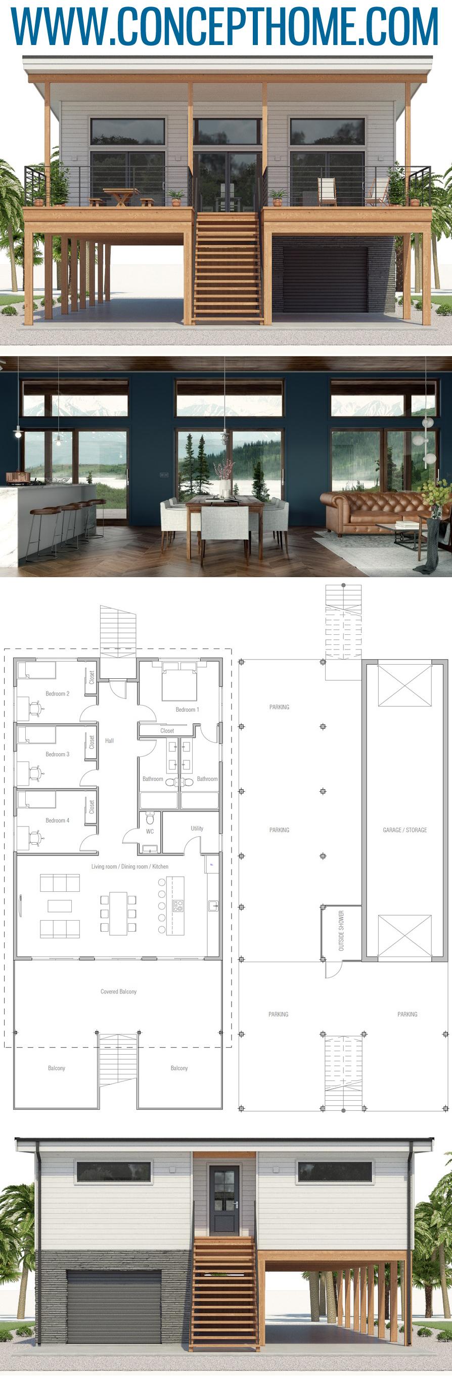 House Plan CH536 #strandhuis