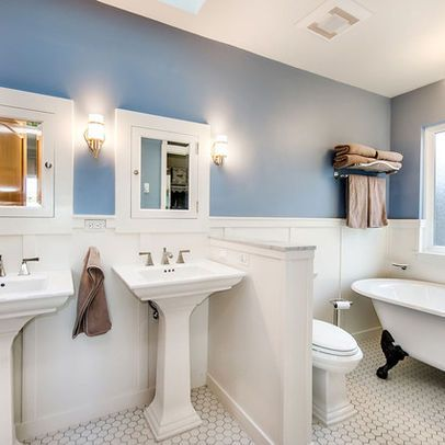 Pedestal Sink Bathroom Design Ideas Double Pedestal Sinks Design