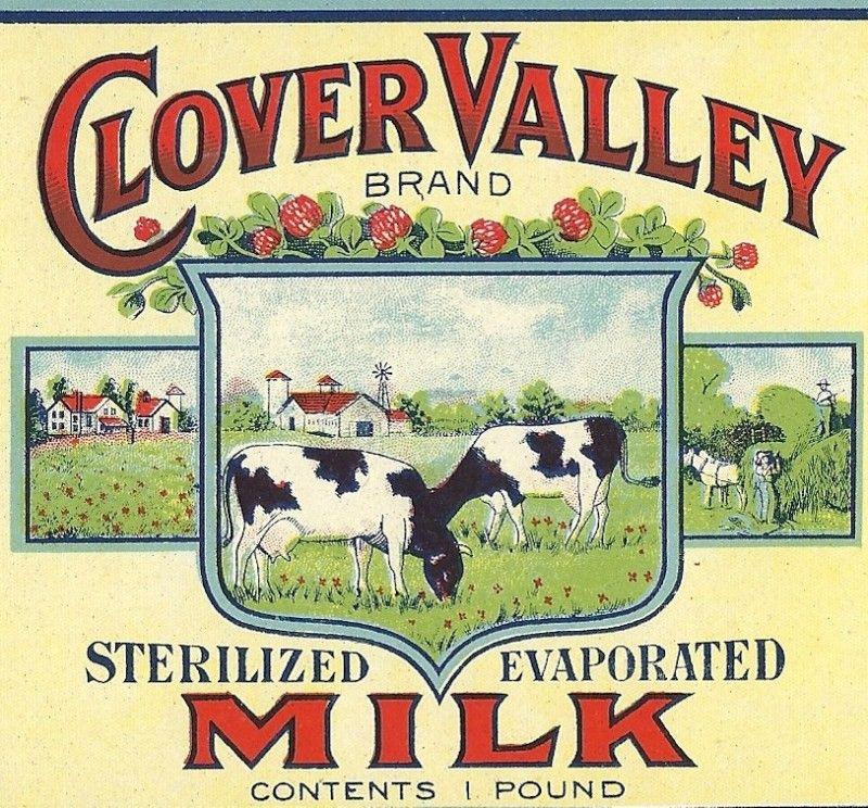 Clover Valley Milk Vintage Ads Vintage Advertisements Vintage Labels