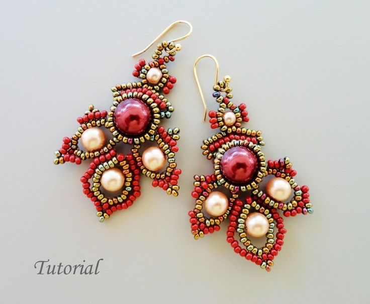 Seed Bead Jewelry Tutorials | Porphyr Beadwoven Earrings Beading Tutorial - beaded seed bead jewelry ...