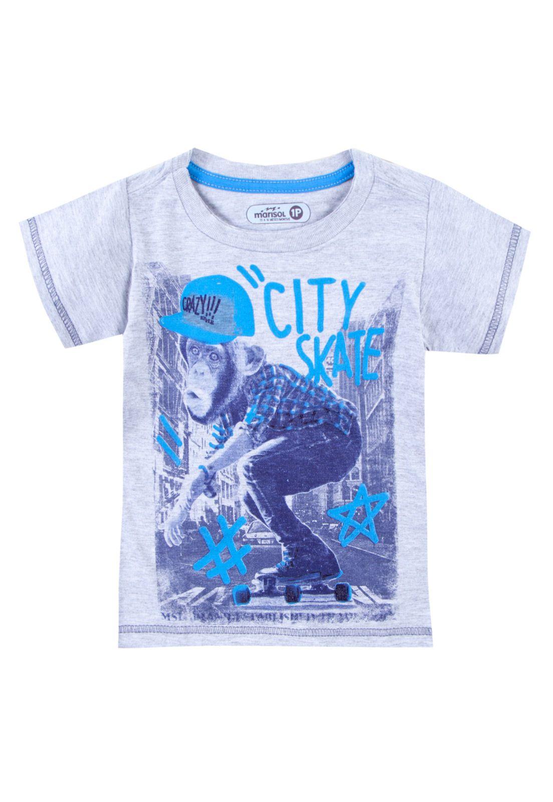 8e44326b0b87d Camiseta Marisol Macaco Cinza - Compre Agora