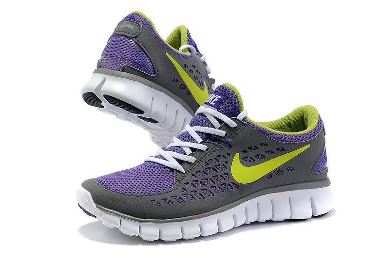 9e9de706a152f These shoes would match my bow perfect  ) Womans Nike Free Run 2012 Running  Shoes Grey Purple