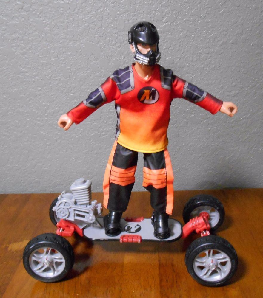 Vintage 1993 Hasbro 12in Action Man Action Figure With Skateboard