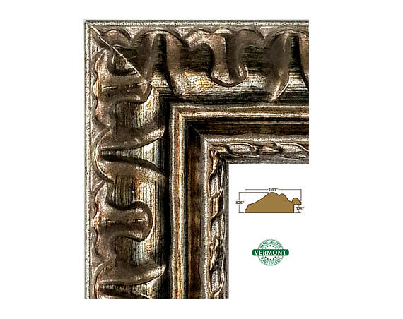 Ornate Bronze Picture Frame Metallic Gold Silver Photo 4x6 5x7