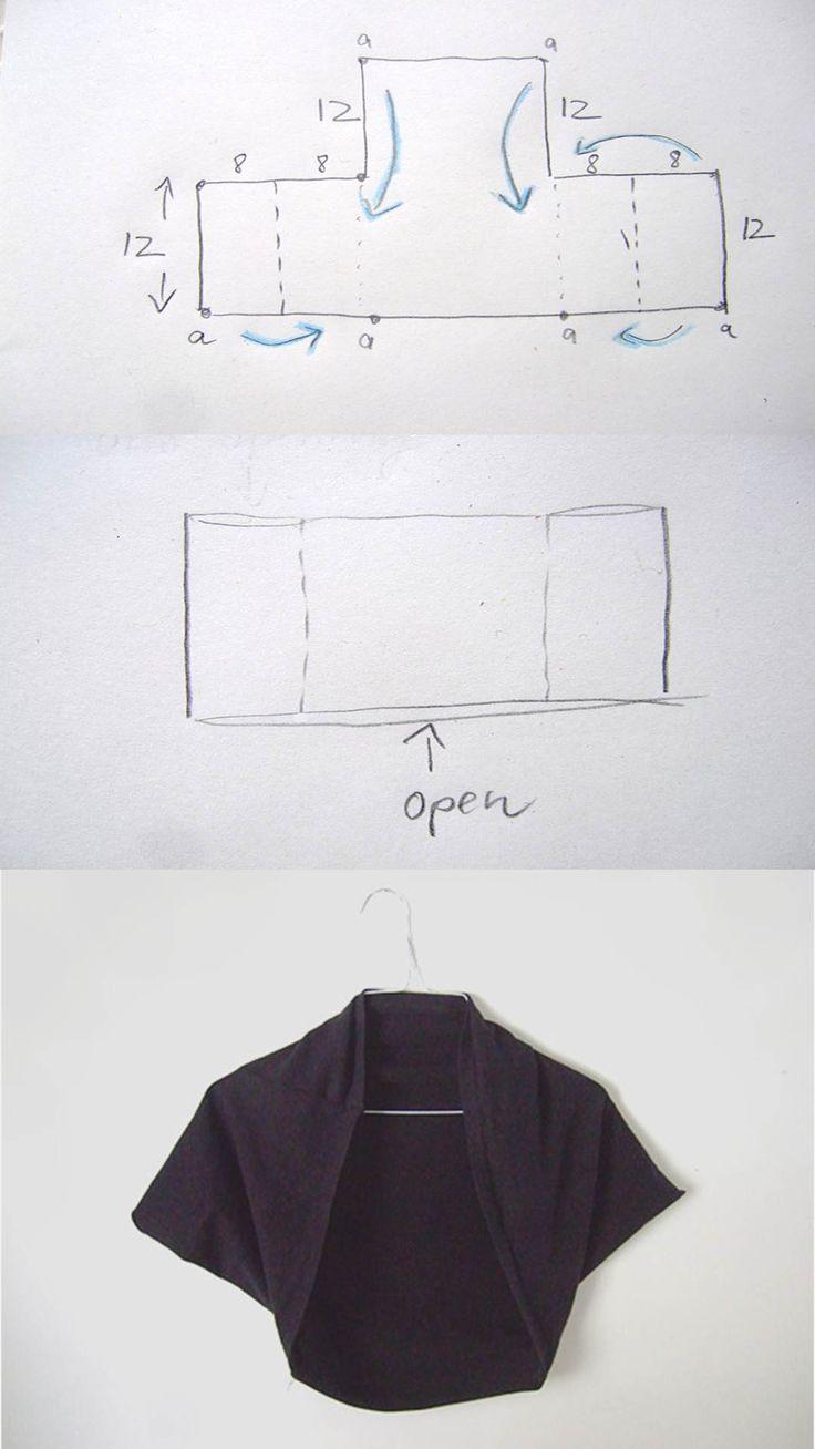 DIY Square Bolero Tutorial   Pattern   Pinterest   Sewing, Sewing ...