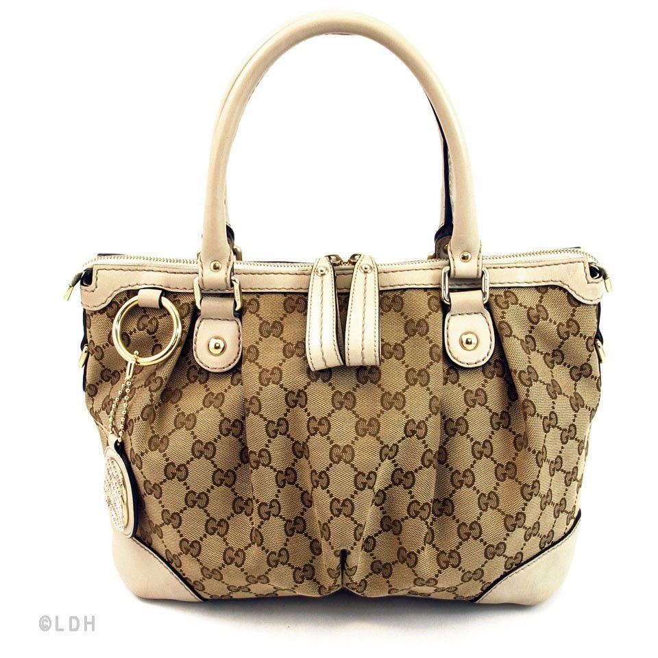 a41a3510d5d Gucci Monogram Sukey Sling (Authentic Pre Owned)