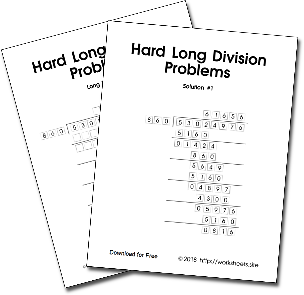 Hard Long Solved Division Problems | Free Worksheets, Games ...