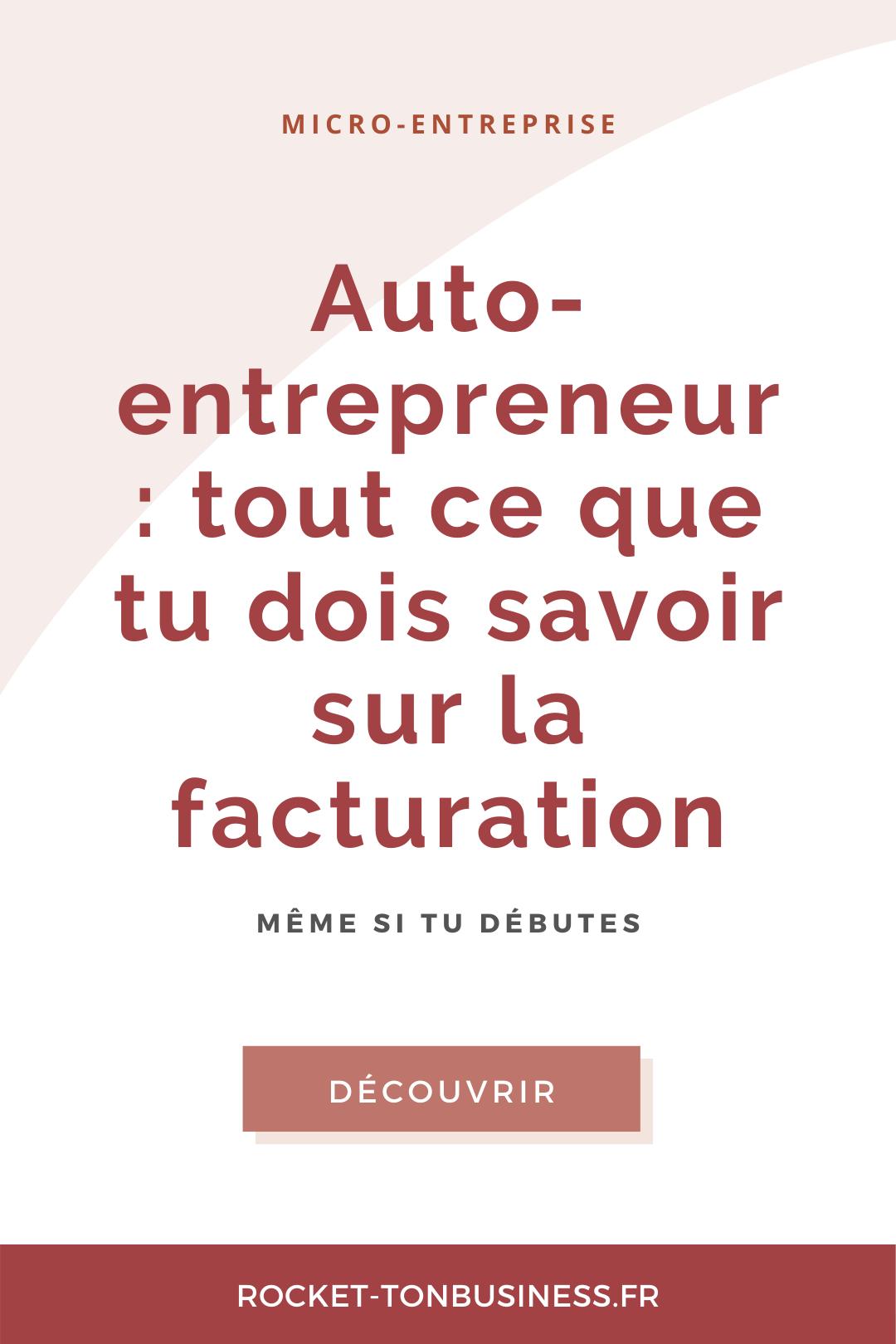 Le guide de la facturation pour auto-entrepreneur en 2020 ...
