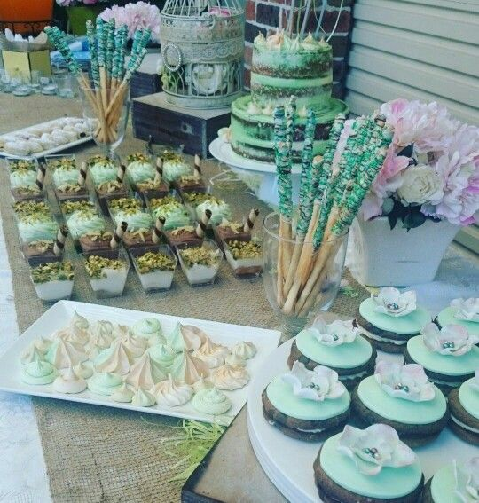Dessert table I created for a beautiful baby shower!