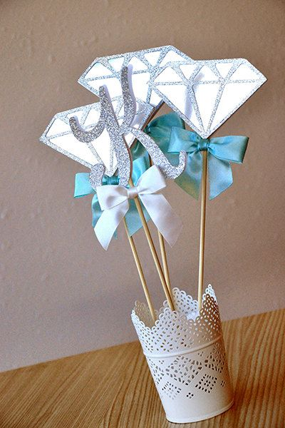Bridal shower centerpiece handcrafted in business