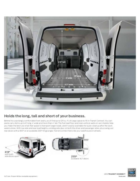 Image Result For Ford Transit Connect Interior Dimensions Van Life