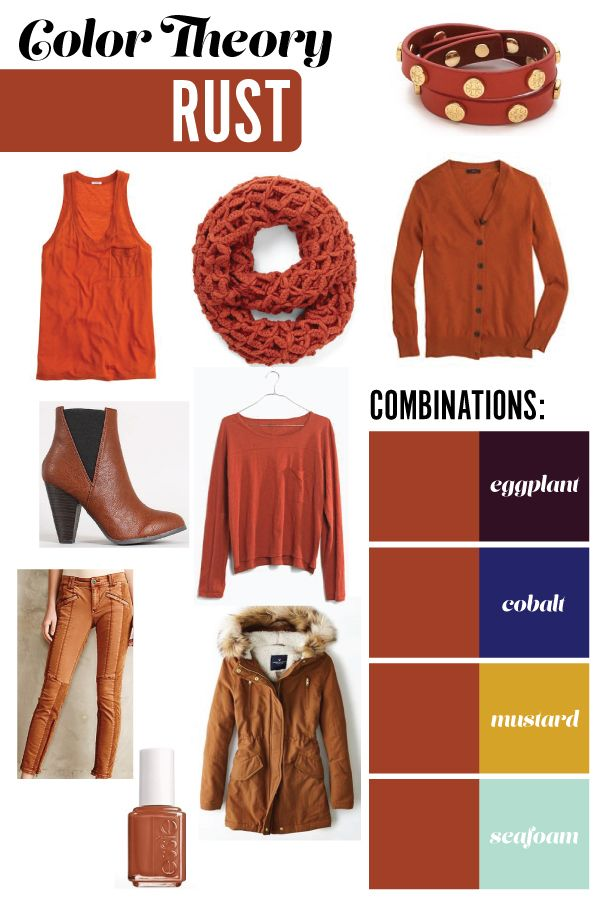 Pride and Joyce | Color Theory: Rust | eggplant, cobalt ...