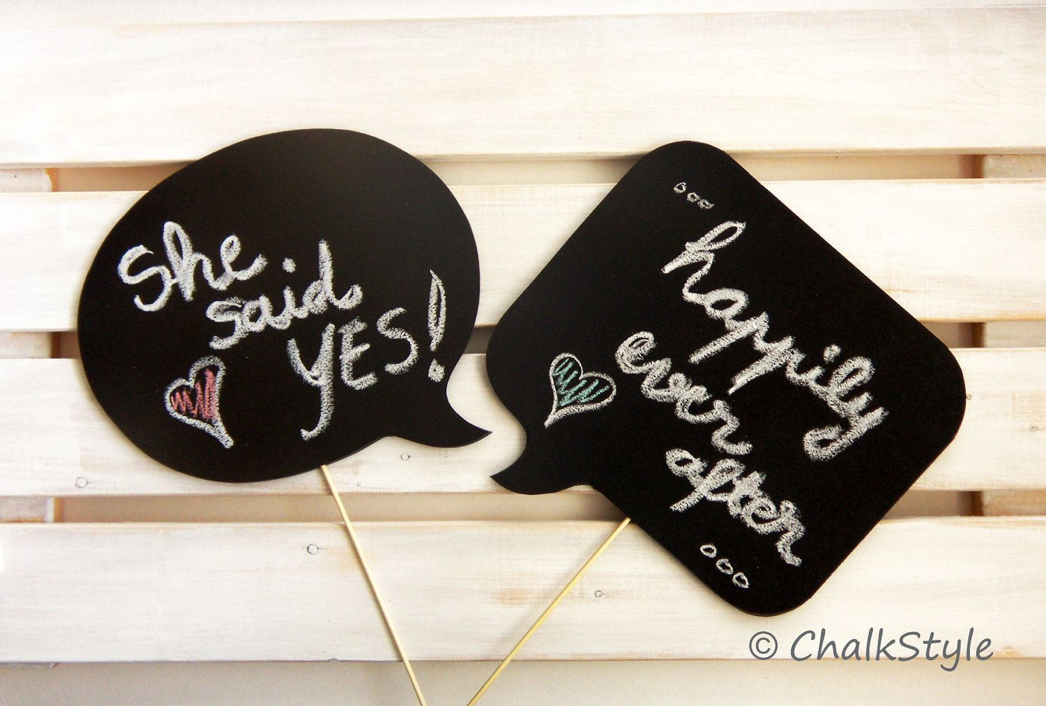 2 Large Chalkboard Sch Bubbles On A Stick Sided Chalkboards Photo Booth Props For Wedding Photos