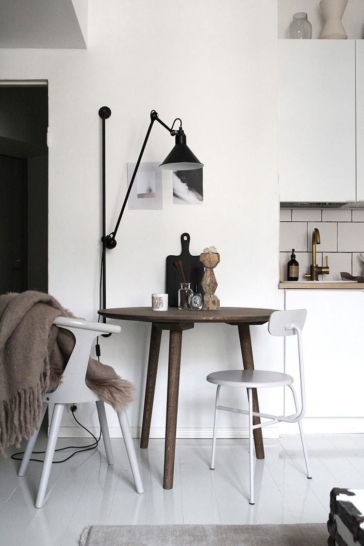 A Cool Way To Light A Dining Room Without A Ceiling Light Dining Room Lighting Scandinavian Dining Room Sconces