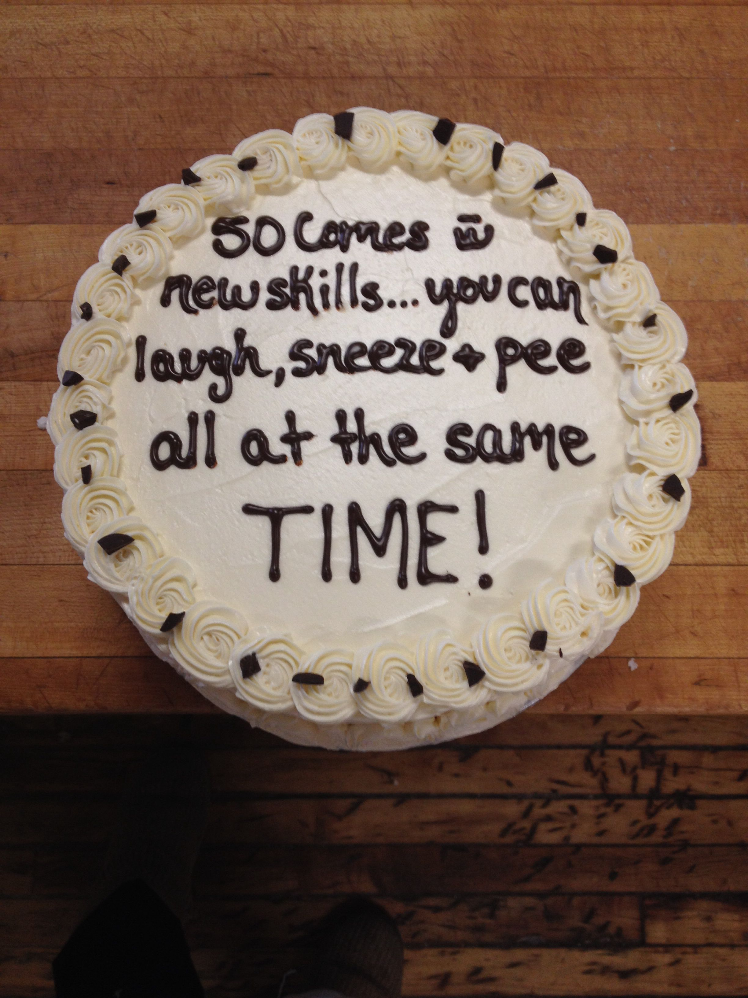 Funny Cake Sayings About Turning 50