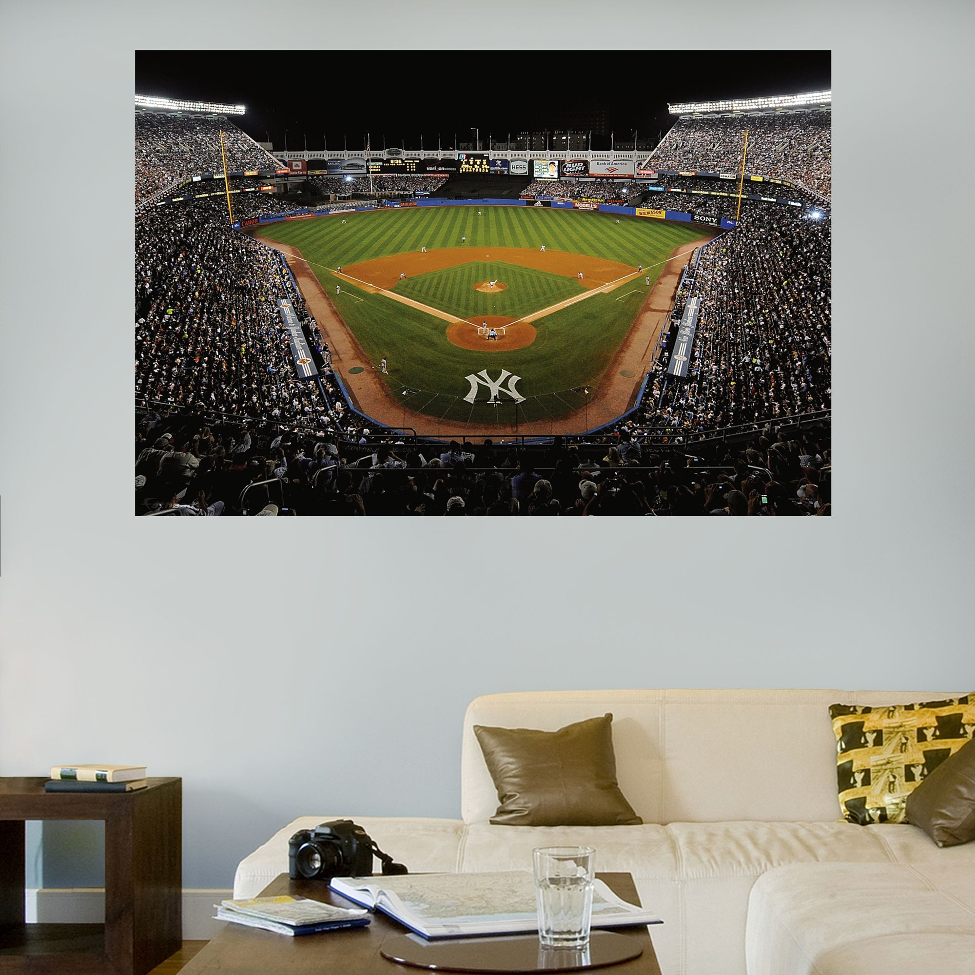 Inside Old Yankee Stadium Mural New York Yankees Mlb Sports Wall Decals New York Yankees Baseball Bedroom