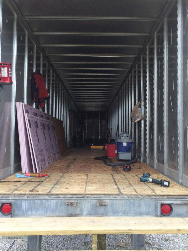 Couple Building Semi Trailer Tiny House In 2020 Semi Trailer Trailer Home Tiny House