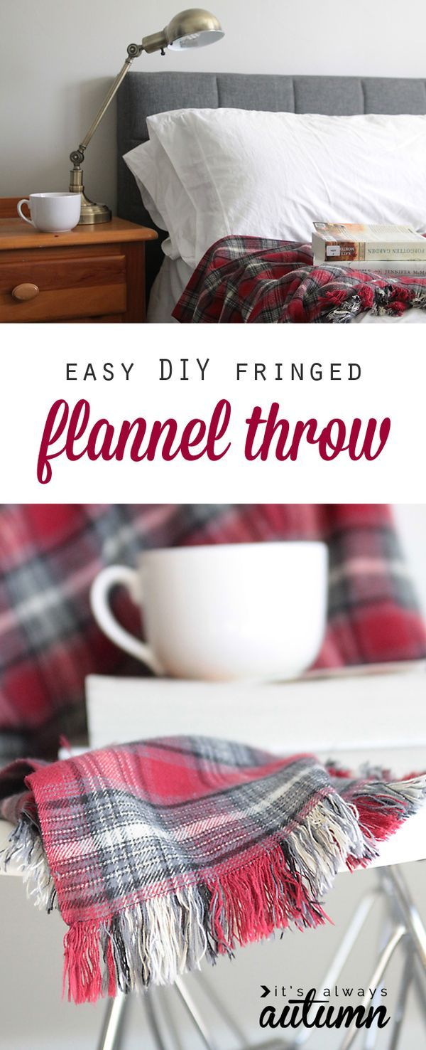 Easy Diy Fringed Flannel Throw Great Gift Idea