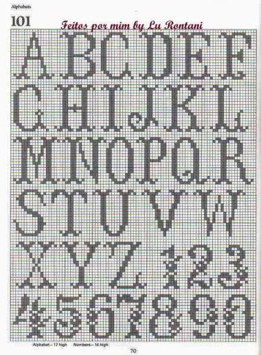gráficos de letras em crochê alfabeto  eed808e9b64
