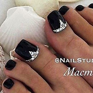 Black Toe Nail Art Nail Designs Toenails Black Toe Nails Pedicure Designs Toenails