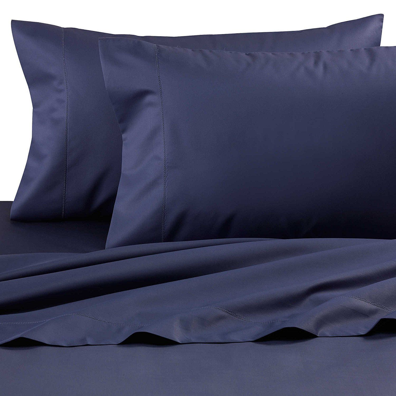 Wamsutta Dream Zone Nightshadow Blue Queen Sheet Set 750 Tc Deep
