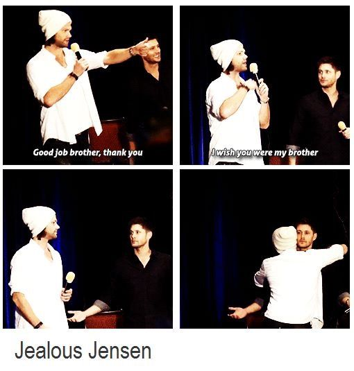 Awww Jensen don't worry Jared still loves you most