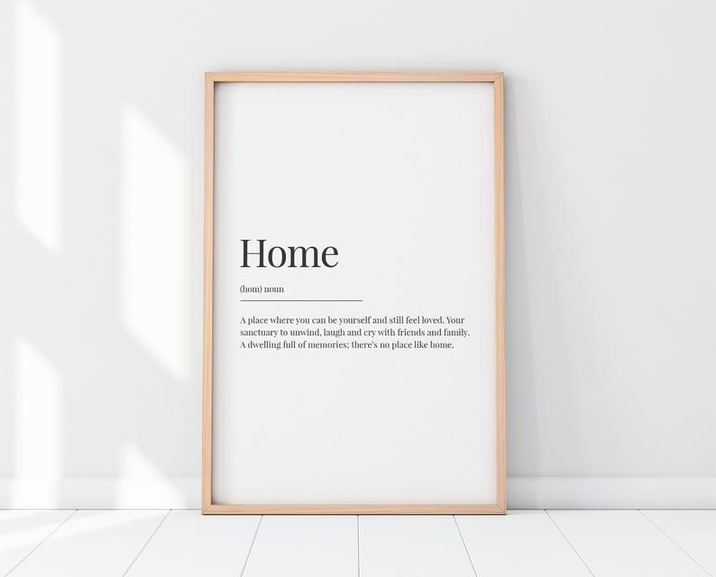 Home Definition Print Gift