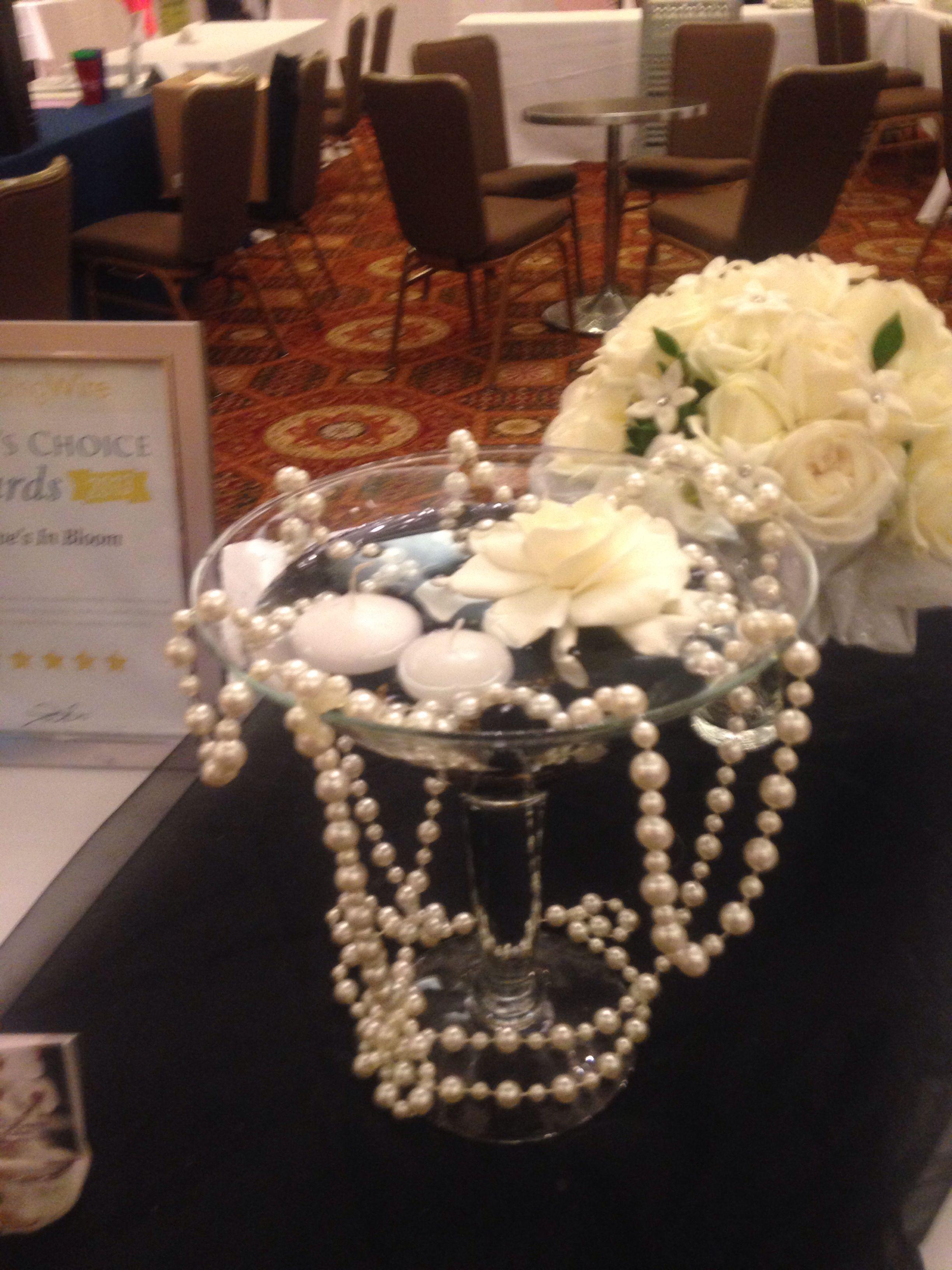 1920's wedding decorations ideas  Great Gatsby themed centerpiece  MKR dinner Steve and Andrea ideas