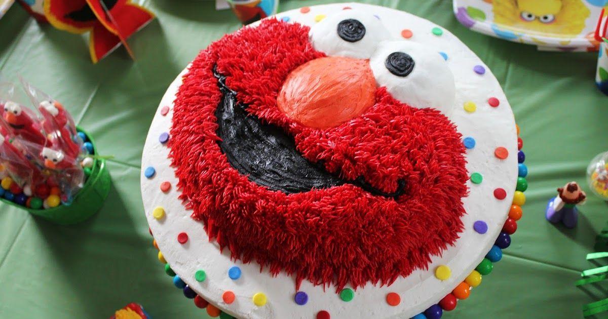 Sesame Street or Elmo party Elmo cake, Elmo birthday