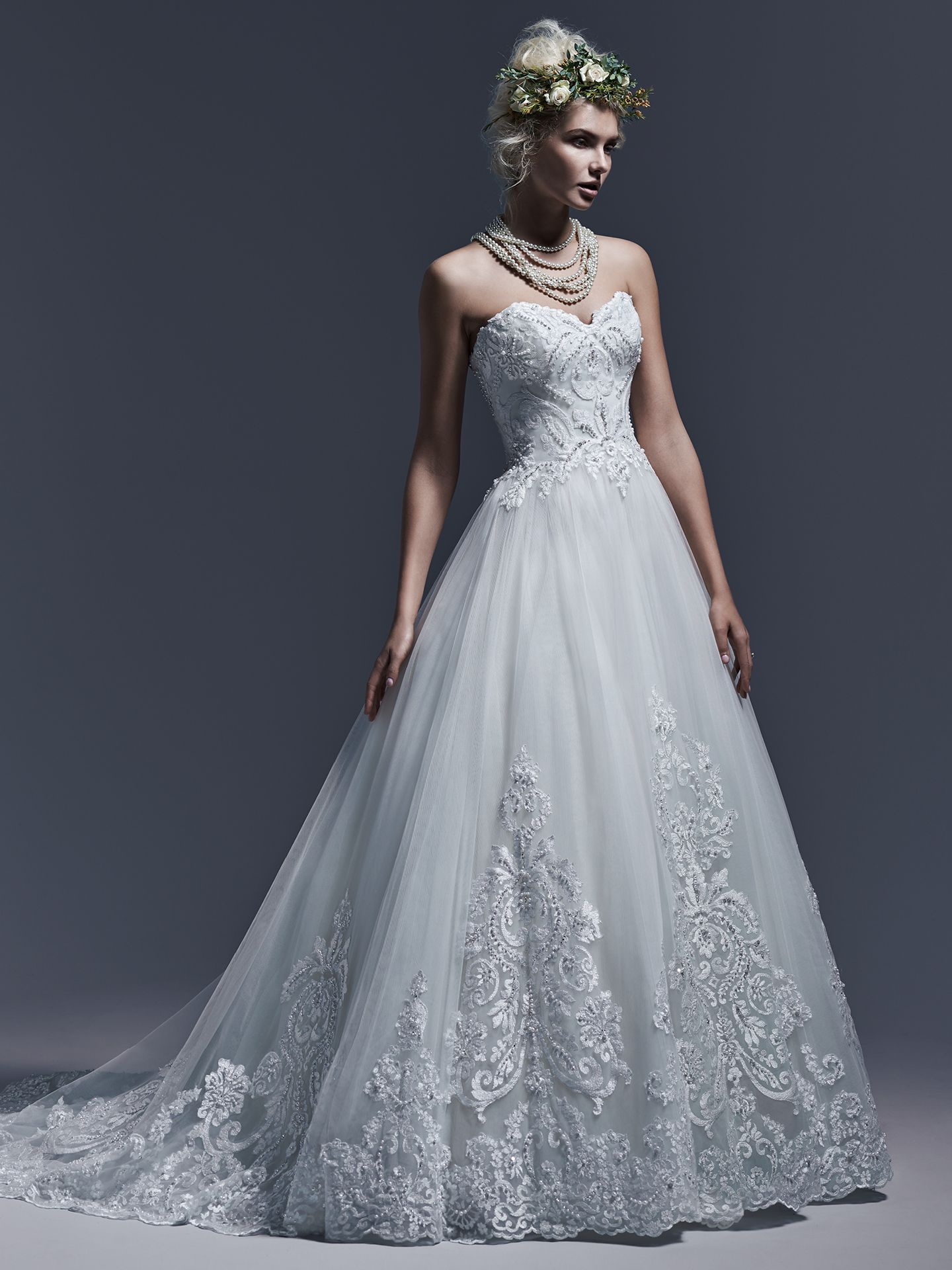 Maggie sottero wedding dresses elegant ball gowns embroidered