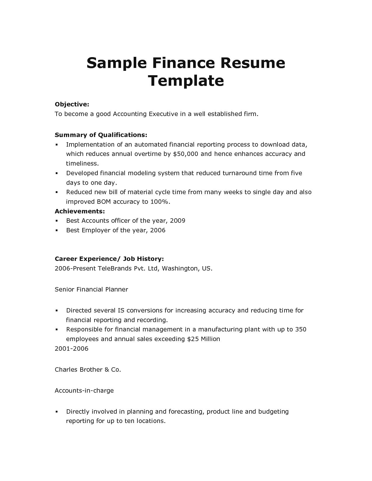 Download High Quality Professional Resume Template Samples Download ...