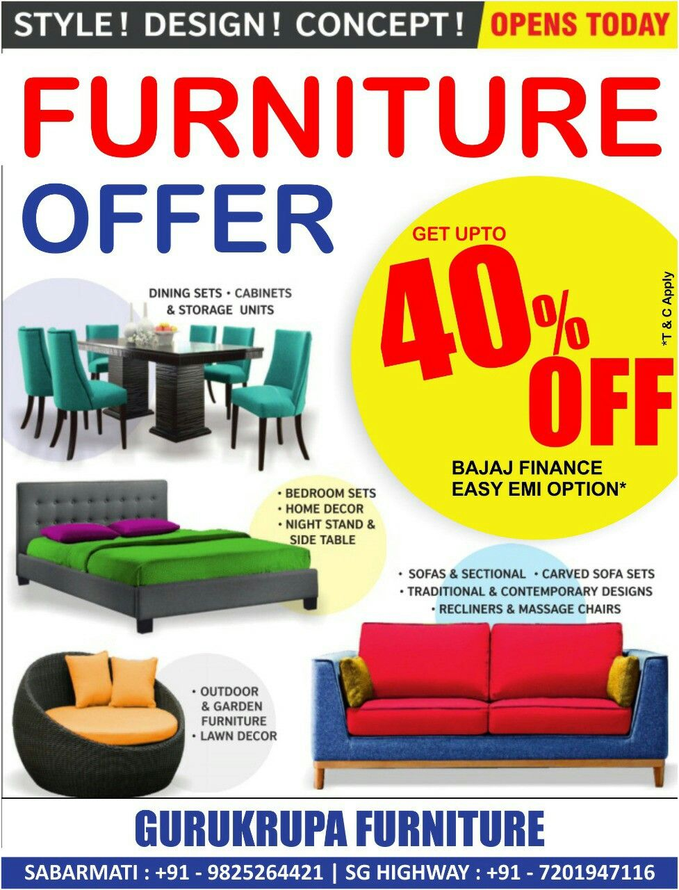 Get Upto 40 Off Easy Emi Available Visitus Gurukrupa Furniture Ahmedabad Sabarmati 9825264421 Sg Highway Carved Sofa Furniture Offers Dining Storage