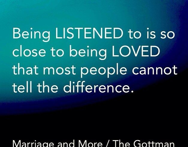 Being LISTENED to is so close to being LOVED that most people cannot tell the difference.  Credits: @gottmansinstitute & @Marriageandmore  What is your oppinion?       #relationshiptip #marriagetip  #motivation #motivationalquote #theartoflistening  #quote #quoteoftheday #quotestoliveby #bestoftheday #savemarriagetips  #happiness #marriage #datingtips #inspirationalquote #selfdevelopment #change #life #risktaking #takearisk #risk #brave #bold #winner by Ed Zimbardi http://edzimbardi.com