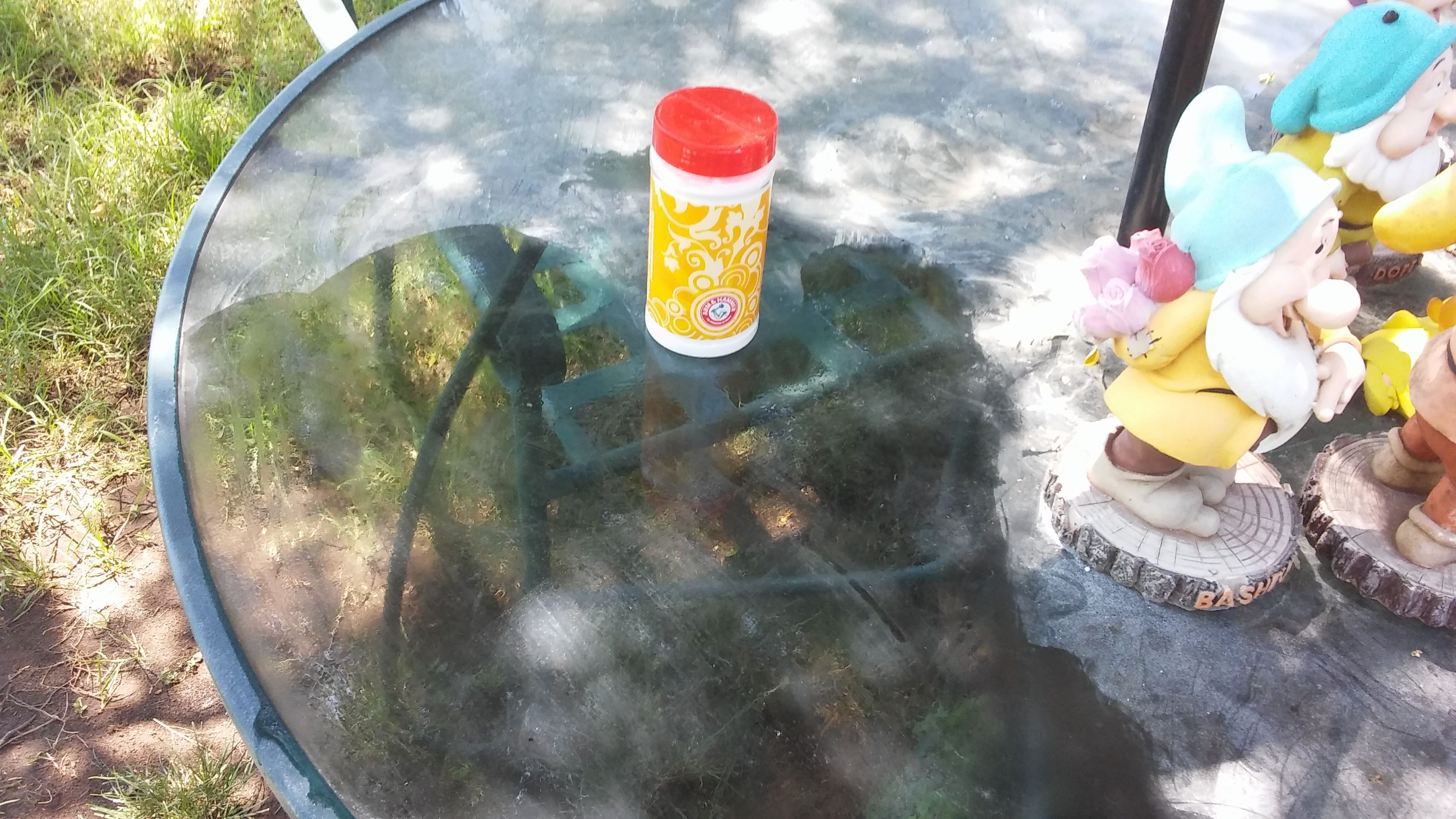 Arm and hammer baking soda cleaned the dirt and hard water