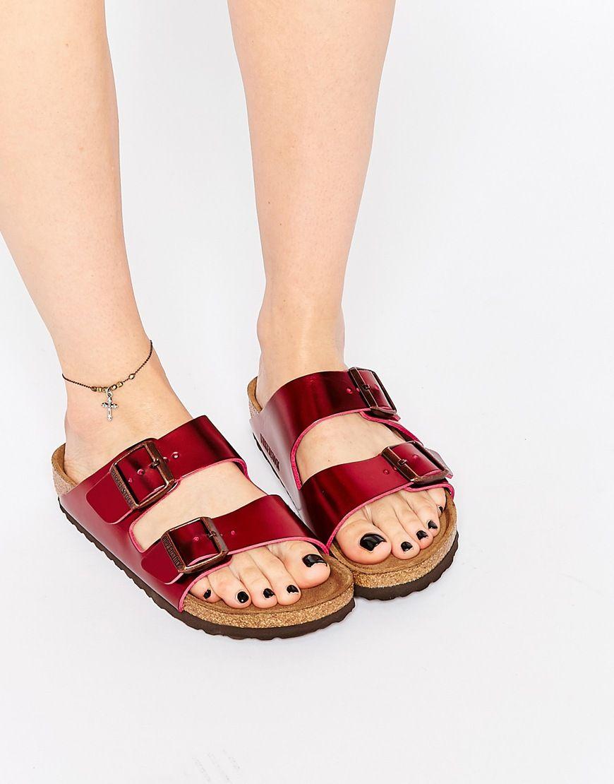 Zapatos de verano de punta abierta formales Birkenstock Arizona para mujer 1bTDoi