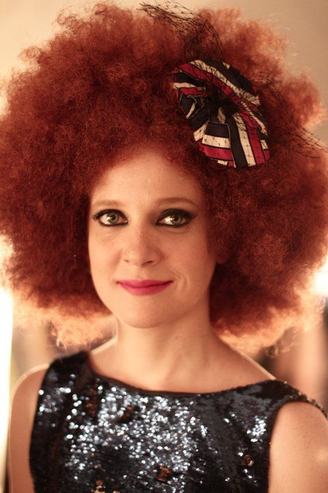 Afro white girl The Real
