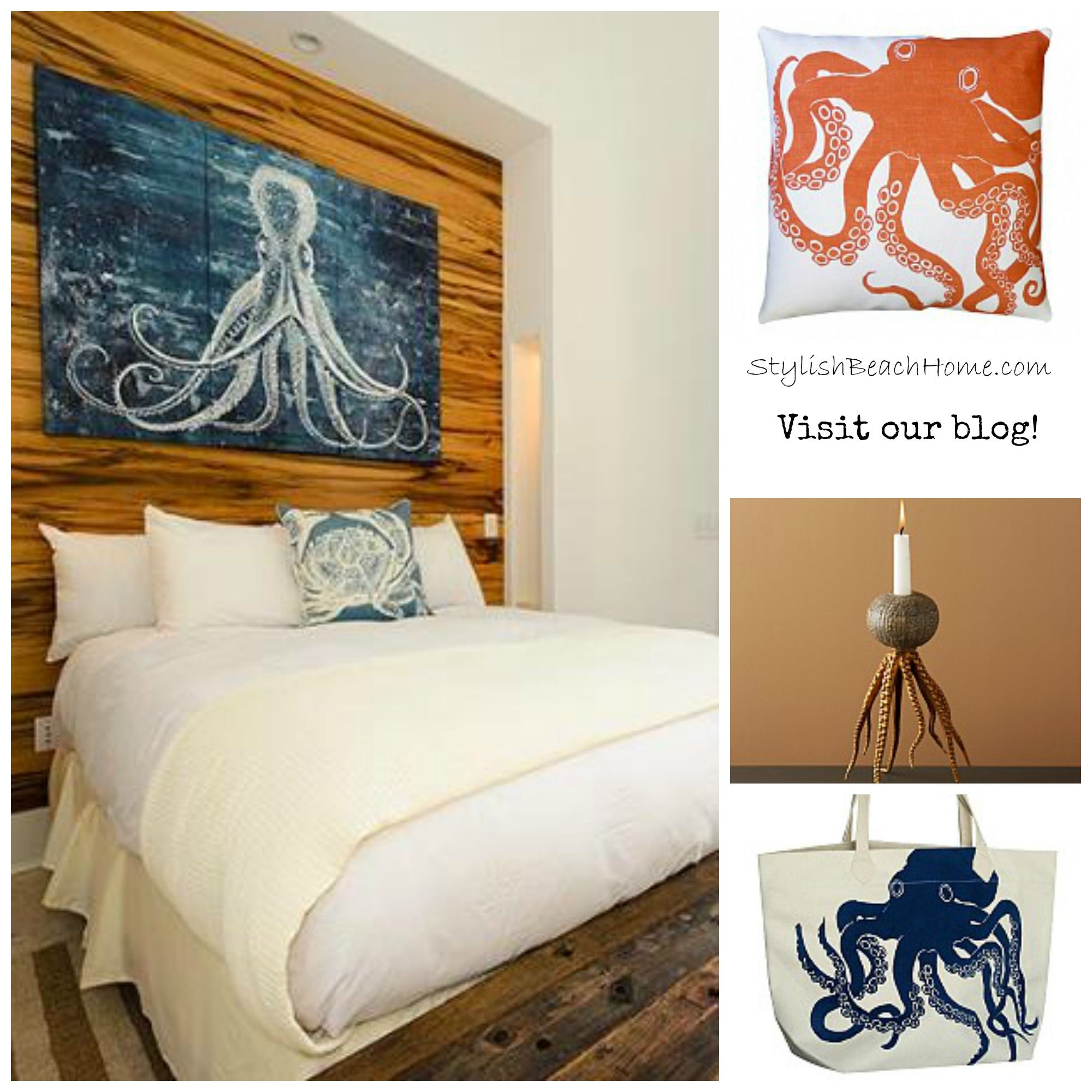 Octopus Bedroom Beachhouse Beach Bedroom Home Decor Bedroom
