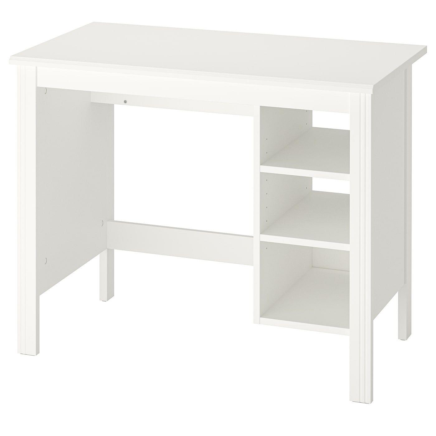 Brusali Schreibtisch Weiss 90x52 Cm Heute Noch Kaufen Ikea Osterreich In 2020 Ikea Brusali White Desks Home Desk