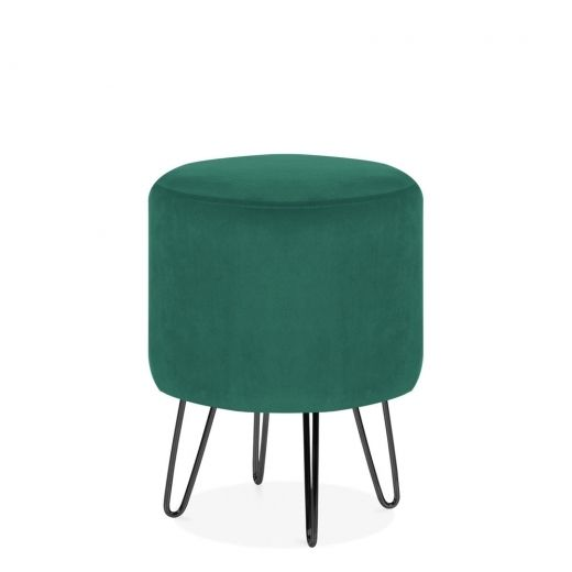 Admirable Cult Living Paloma Round Footstool Velvet Upholstered Theyellowbook Wood Chair Design Ideas Theyellowbookinfo