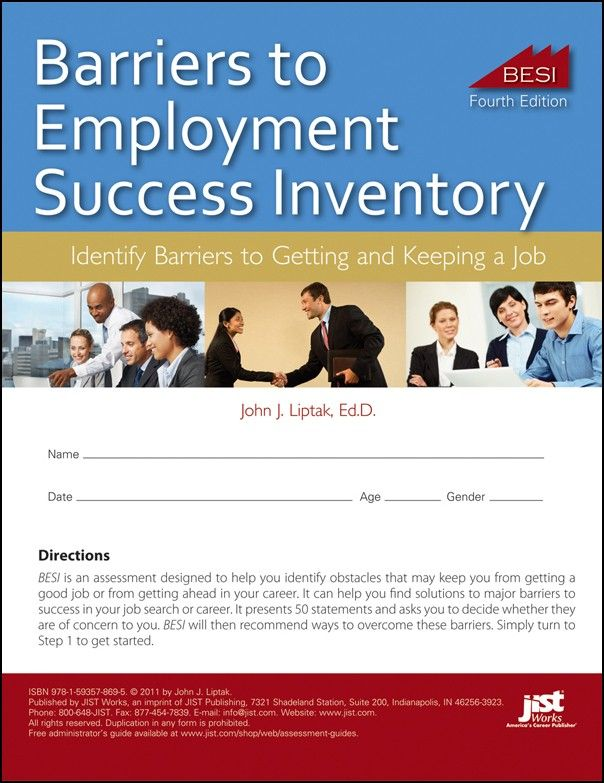Barriers to Employment Success Inventory, Fourth Edition JIST