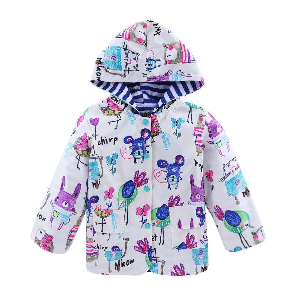 0e9782bb7ea5 Fairylinks Little Girls Boys Waterproof Windproof Raincoat with ...