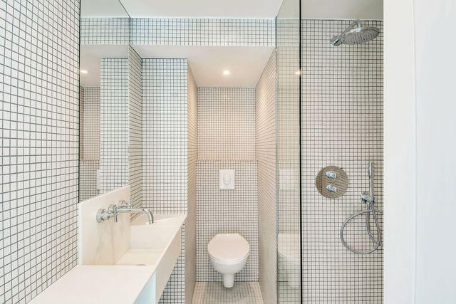 Déco WC  du carrelage pour des toilettes stylés Inspiration - carrelage salle de bain petit carreaux