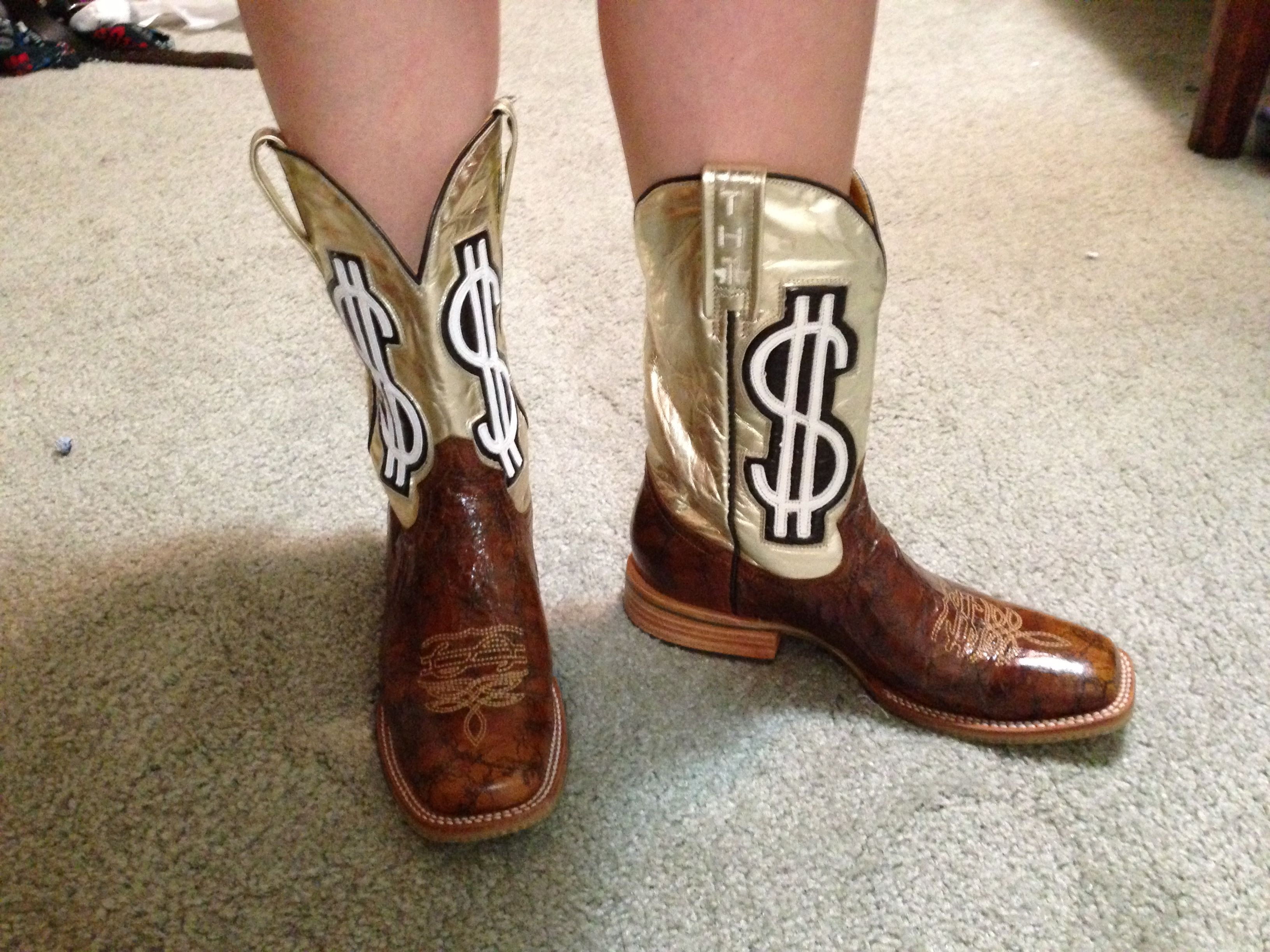 f0052caf345561 Tin haul gold digger boots! Perfect for the white trash bash ...