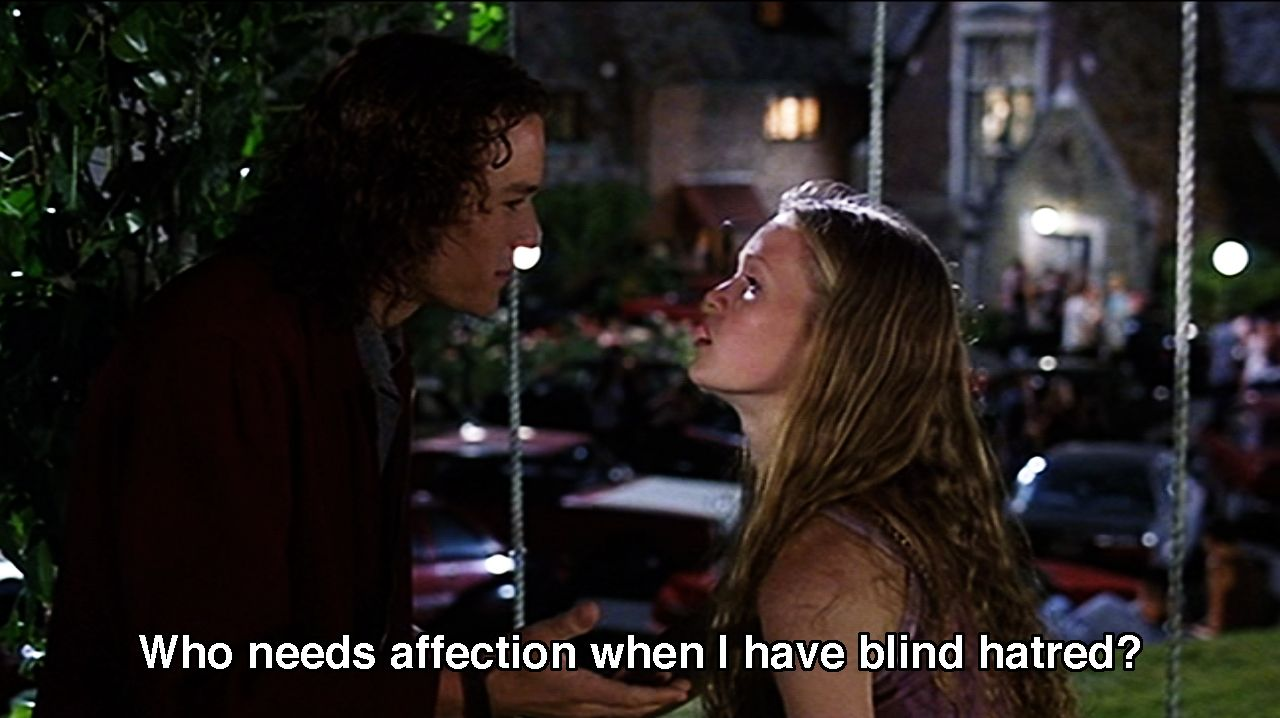 Movies Love Quotes 10 Things I Hate About You: Kat And Patrick From 10 Things I Hate About You. So Yeah