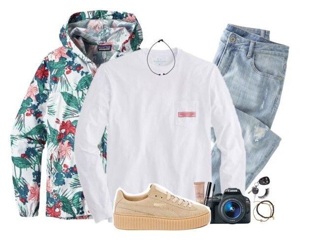 """""""just stop your crying, it's a sign of the times~"""" by tips-icons-4life ❤ liked on Polyvore featuring Patagonia, Wrap, Vineyard Vines, Eos, Puma and Tai"""